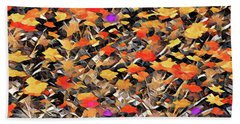 Autumn Fire Beach Sheet