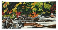 Autumn Frost Beach Sheet by Donna Blossom