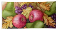 Autumn Fruit Still Life Beach Sheet
