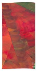 Beach Towel featuring the painting Autumn Fury by Kristen Fox
