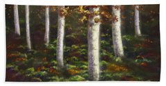 Autumn Ghosts Beach Towel by Amyla Silverflame