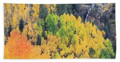 Beach Towel featuring the photograph Autumn Glory by David Chandler