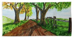 Beach Towel featuring the painting Autumn Glory by Jack G Brauer