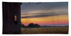 Beach Towel featuring the photograph Autumn Glow by Bill Wakeley