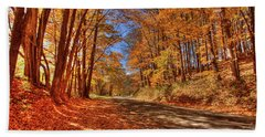 Autumn Glow Beach Towel by Dale R Carlson