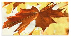 Autumn Greeting Beach Sheet by Rachel Hames