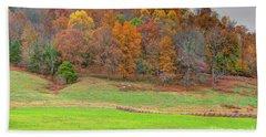 Autumn Hillside Beach Sheet