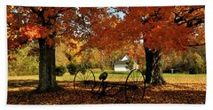 Beach Towel featuring the photograph Autumn Hush by Diane E Berry