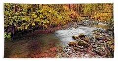 Autumn In An Oregon Rain Forest  Beach Sheet