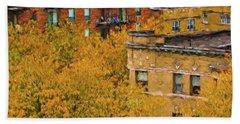 Autumn In Chicago Beach Sheet