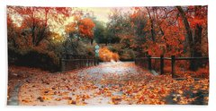 Autumn In Discovery Lake Beach Towel