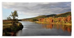 Autumn In Margaree Valley Cape Breton Beach Sheet by Elaine Manley