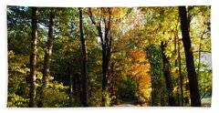 Autumn In Missouri Beach Towel