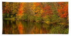 Autumn In Monroe Beach Sheet by Karol Livote