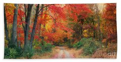Autumn In New Jersey Beach Towel