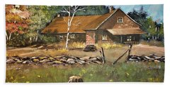 Autumn In Early  North West Territory Beach Towel