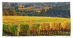 Autumn In Oregon Wine Country Beach Towel