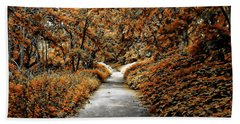 Autumn In Stamford Beach Towel