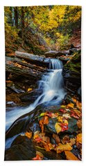 Autumn In The Catskills Beach Sheet by Rick Berk