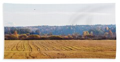 Autumn In The Countryside Beach Towel