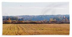 Autumn In The Countryside Beach Sheet