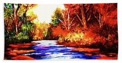 Autumn In The Deep Forest Beach Towel