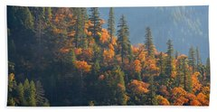 Beach Sheet featuring the photograph Autumn In The Feather River Canyon by AJ Schibig