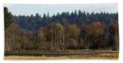 Beach Towel featuring the photograph Autumn In The Nisqually Estuary  by I'ina Van Lawick