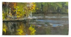 Autumn In The Rock Quarry Beach Towel