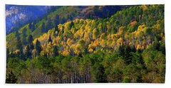 Beach Towel featuring the photograph Autumn In Utah by Bryan Carter