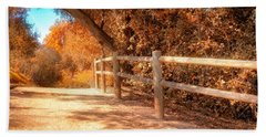 Autumn In Yellow Beach Sheet