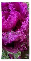 Autumn Kale Beach Sheet by Patricia E Sundik