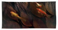 Autumn Koi Beach Towel