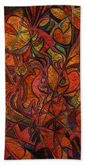 Autumn Kokopelli Beach Towel by Anna Duyunova