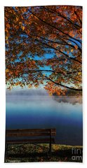 Autumn Lake Beach Towel