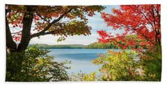 Beach Towel featuring the photograph Autumn Lake by Elena Elisseeva