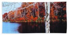 Autumn Lake Beach Sheet