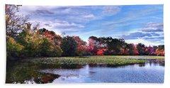 Autumn Landscape 3 Beach Sheet by Mikki Cucuzzo