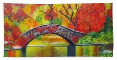 Autumn Landscape -colors Of Fall Beach Sheet