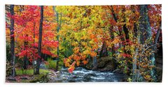 Autumn Landscape Beach Sheet