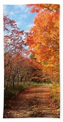 Autumn Lane Beach Towel