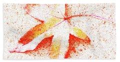 Autumn Leaf Art Beach Towel