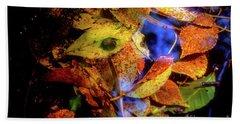 Beach Towel featuring the photograph Autumn Leaf by Tatsuya Atarashi