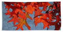 Beach Towel featuring the photograph Autumn Leaves 19 by Jean Bernard Roussilhe