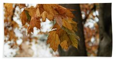 Autumn Leaves 2- By Linda Woods Beach Towel