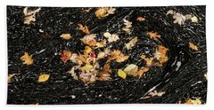 Autumn Leaves Abstract Beach Towel