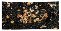 Autumn Leaves Abstract Beach Towel