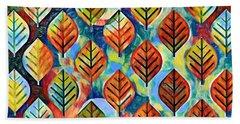 Autumn Leaves Abstract Beach Sheet