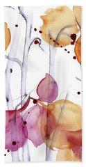 Beach Sheet featuring the painting Autumn Leaves by Dawn Derman