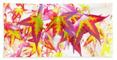 Autumn Leaves Experiment Beach Towel